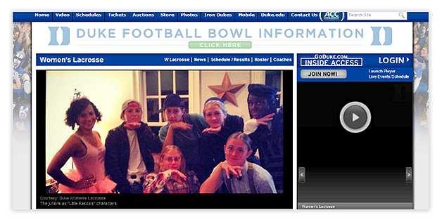Duke Women's Lacrosse Halloween Party